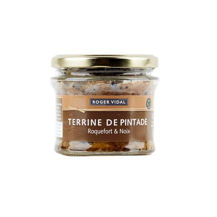 Terina z prepeličiek na syre Roquefort a orechoch